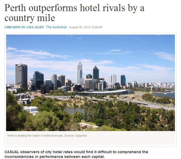 Checking in: Lisa Allen, The Australian, 25 August 2012